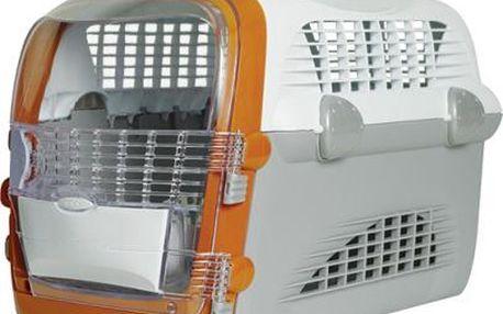 Přepravka CAT IT Design Cabrio bílo - šedá