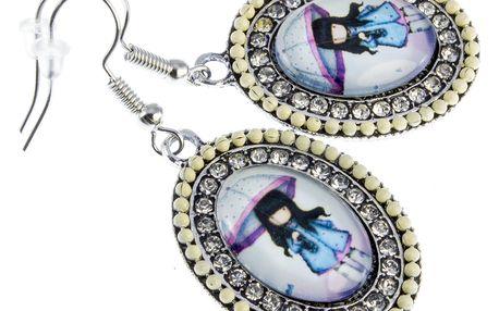 Fashion Icon Náušnice oválné etno s panenkou