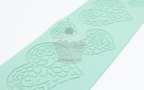 Silikonová šablona na jedlou krajku Srdce
