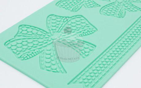 Silikonová šablona na jedlou krajku Mašle