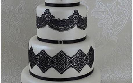 Cake Lace - jedlá krajka směs - černá - Black - 500g