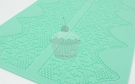 Silikonová šablona na jedlou krajku Baroko 3
