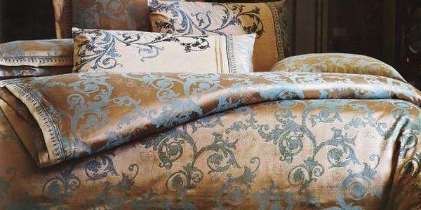 NOVIA Luxusní povlečení z hedvábné bavlny, bavlna, 4 dílné, 140x200 70x90 45x70 40x40, Vzor HB04