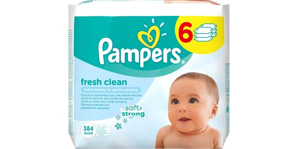 Pampers Vlhčené ubrousky Pampers Fresh Clean 6x64ks