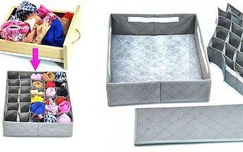 Praktický pomocník k ukládání věcí -organizér do zásuvky!Nejlepší box pro ukládání spodního prádla, ponožek, pásků, šátků apod. Konec prohrabování v šuplíku! S organizérem ušetříte spoustu času, protože bude mít vše své místo a co budete potřebovat, ryc