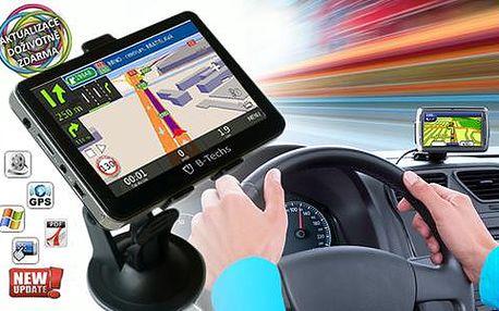 Super rychlá GPS NAVIGACE! Vestavěná paměť, 7palcový displej a doživotní aktualizace map!