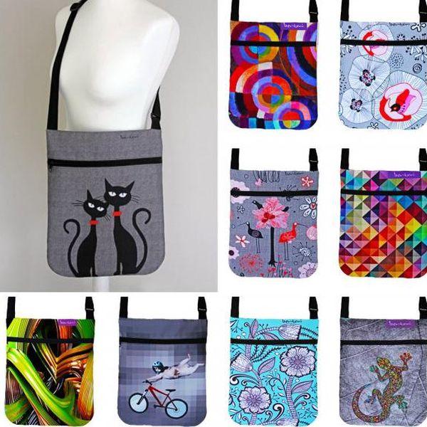 Barevné filcové kabelky Bertoni Joy s originálními motivy!