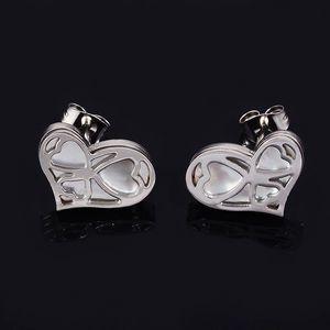 Srdíčkové náušnice s perletí chirurgická ocel