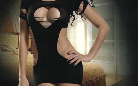 TopMode Erotické šaty černá