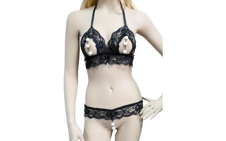 Dámské erotické spodní prádlo B-Fashion, černé