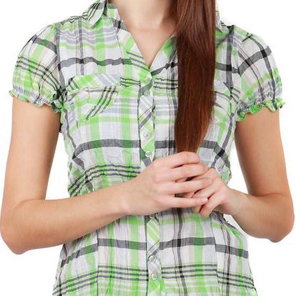 TopMode Moderní košile s límečkem zelená 19HA007zelenáM