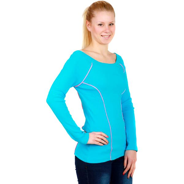TopMode Sportovní tričko s dlouhým rukávem modrá