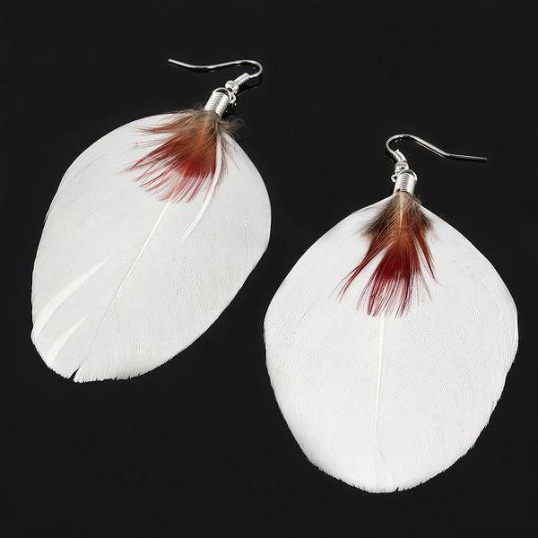 Giovanni Bertolucci Peříčkové naušnice bílá
