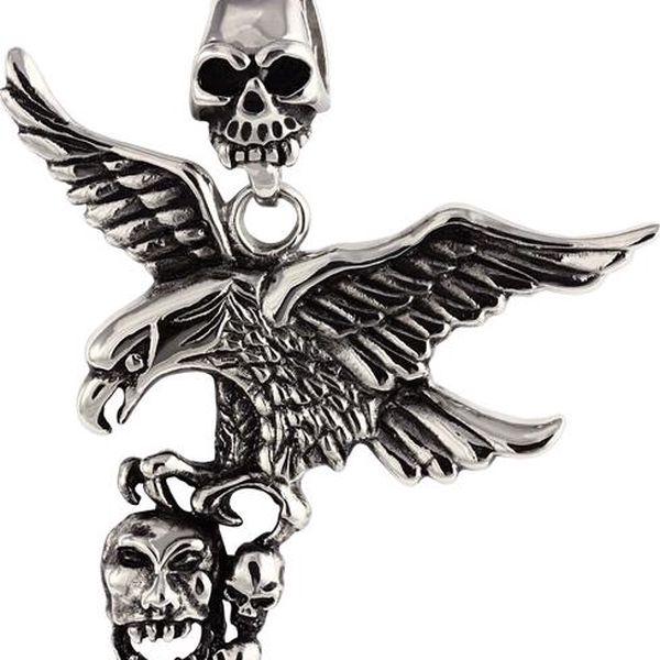 Přívěsek orel, eagle with skull