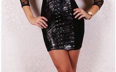 Dámské minišaty B-Fashion, černé