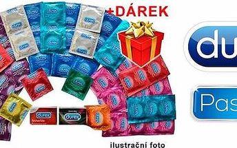 Balíčky plné značkových kondomů Durex a Pasante