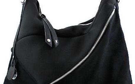 Černá semišová kabelka 8835-42B Velikost: UNI