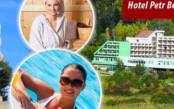Pobyt pro 1 osobu na 4 nebo 7 dní s bohatou polopenzí v hotelu Petr Bezruč*** v Beskydech.