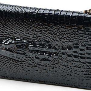 Dámská peněženka s krokodýlem!! Luxusní provedení!! Lesklý povrch, 14 přihrádek!!