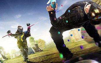 Venkovní 3hodinová paintballová bitva a malé pohoštění