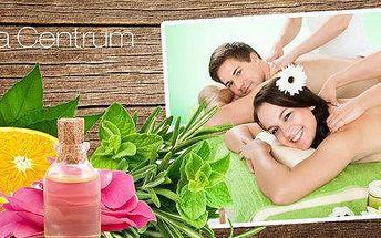 30–120 min relaxačních aromaterapeutických masáží