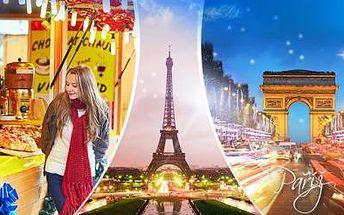 3denní PAŘÍŽ na otočku s průvodcem, dopravou a pojištěním. Zájezd pro 1 osobu v září nebo o adventním víkendu.