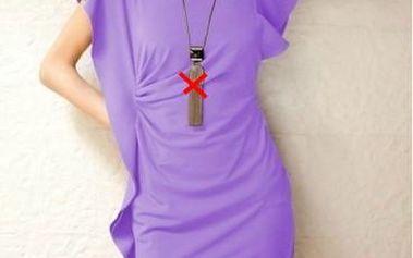 Dámské minišaty B- Fashion asymetrické, fialové