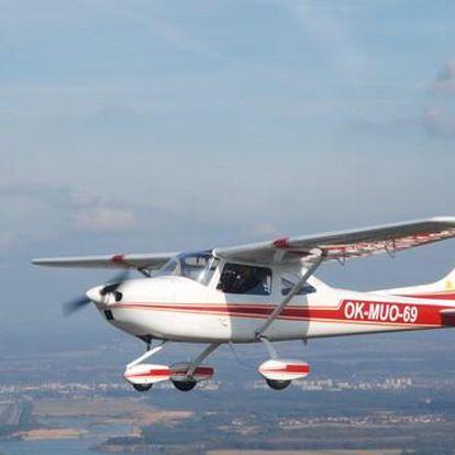 Pilotáž letadla i instruktáž od profíka
