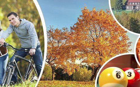Pobyt pro dvě osoby v penzionu Lion. Polopenze, kulečník, cyklostezky pro horská i trekingová kola!!