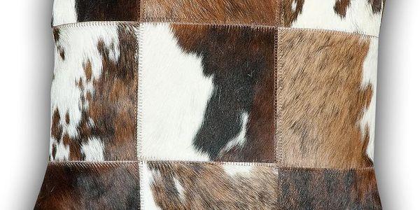 Polštář z pravé kůže Cow, 45x45 cm - doprava zdarma!