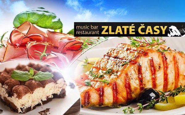 3chodové menu pro 2 os. v centru Prahy! Parmská šunka, steak z tuňáka, krocaních prsou nebo lososa a tiramisu!
