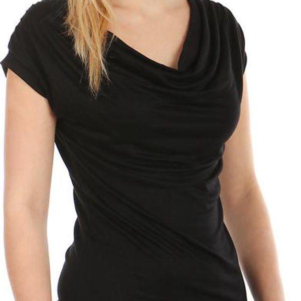 TopMode Krásné elegantní tričko černá