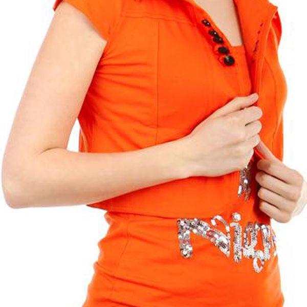 TopMode Krásné bolerko k tričkům a k tílkům oranžová