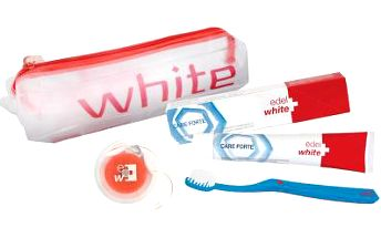 EDEL+WHITE ZP Whitening 75ml+zub.kartáček+dent.nit