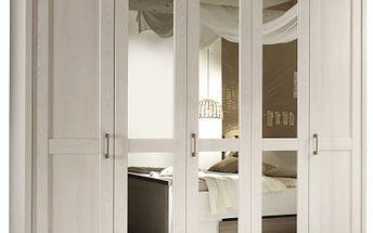 Zrcadlová prostorná šatní skříň