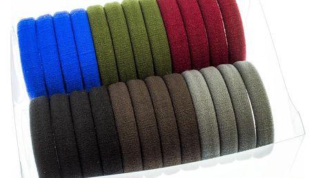 Fashion Icon Gumičky do vlasů multicolor 24ks