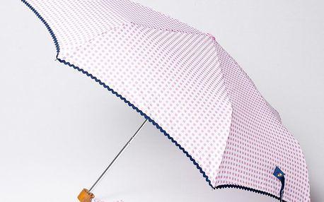 Skládací deštník Vichy, růžový
