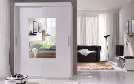 Skříň s posuvnými dveřmi Alexis a zrcadlem - DOPRAVA ZDARMA!