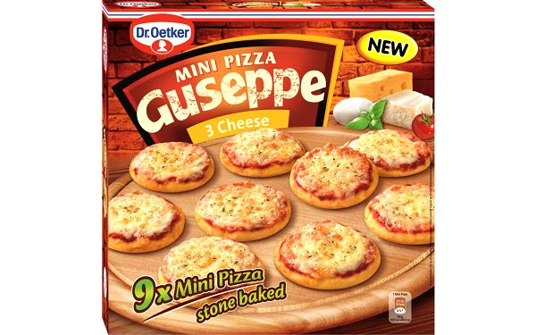 Dr. Oetker Dr. Oetker Guseppe Mini Pizza 3 Cheese 270g (9x 30g)