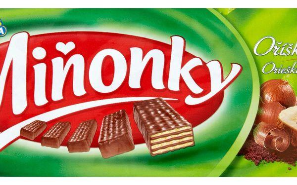 Opavia Opavia Miňonky Oplatky s lískooříškovou náplní v mléčné čokoládě 50g