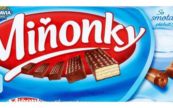 Opavia Opavia Miňonky Oplatky s mléčnou náplní se smetanovou příchutí v mléčné čokoládě 50g