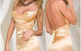 Dámské klubové šaty s tangy B-Fashion, zlaté, uni