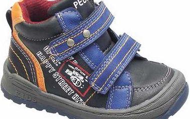 Chlapecké kotníčkové boty, černo-modré