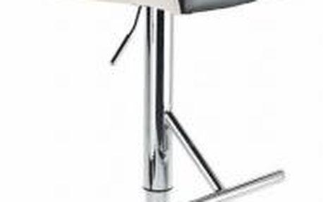 Barová židle CL-8005 BK černá s bílým lemem
