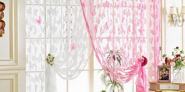 Záclona s motýlím vzorem!