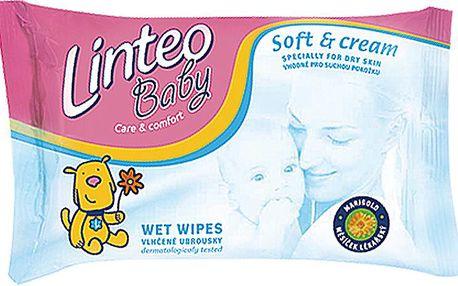 Vlhčené ubrousky Soft and Cream 24 ks, 1-vrstvé