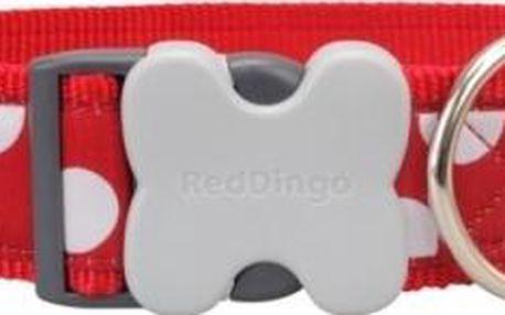 Red Dingo obojek XL White Spots on Red