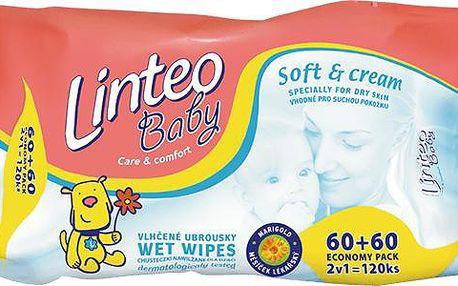 Vlhčené ubrousky Soft & Cream 120 ks