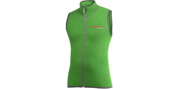 Pánská vesta Woolpower Full Zipper Vest 400g light green/grey XXS uni
