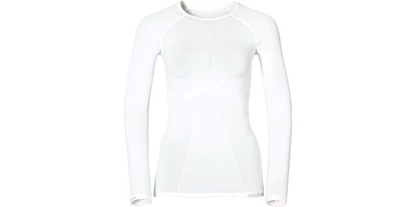 Odlo L/S Crew Neck Evolution Warm White, bílá, 40
